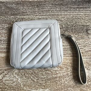French Connection Hayes Box Wristlet In Grey